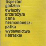 Godzina gwiazdy okładka książki Clarice Lispector