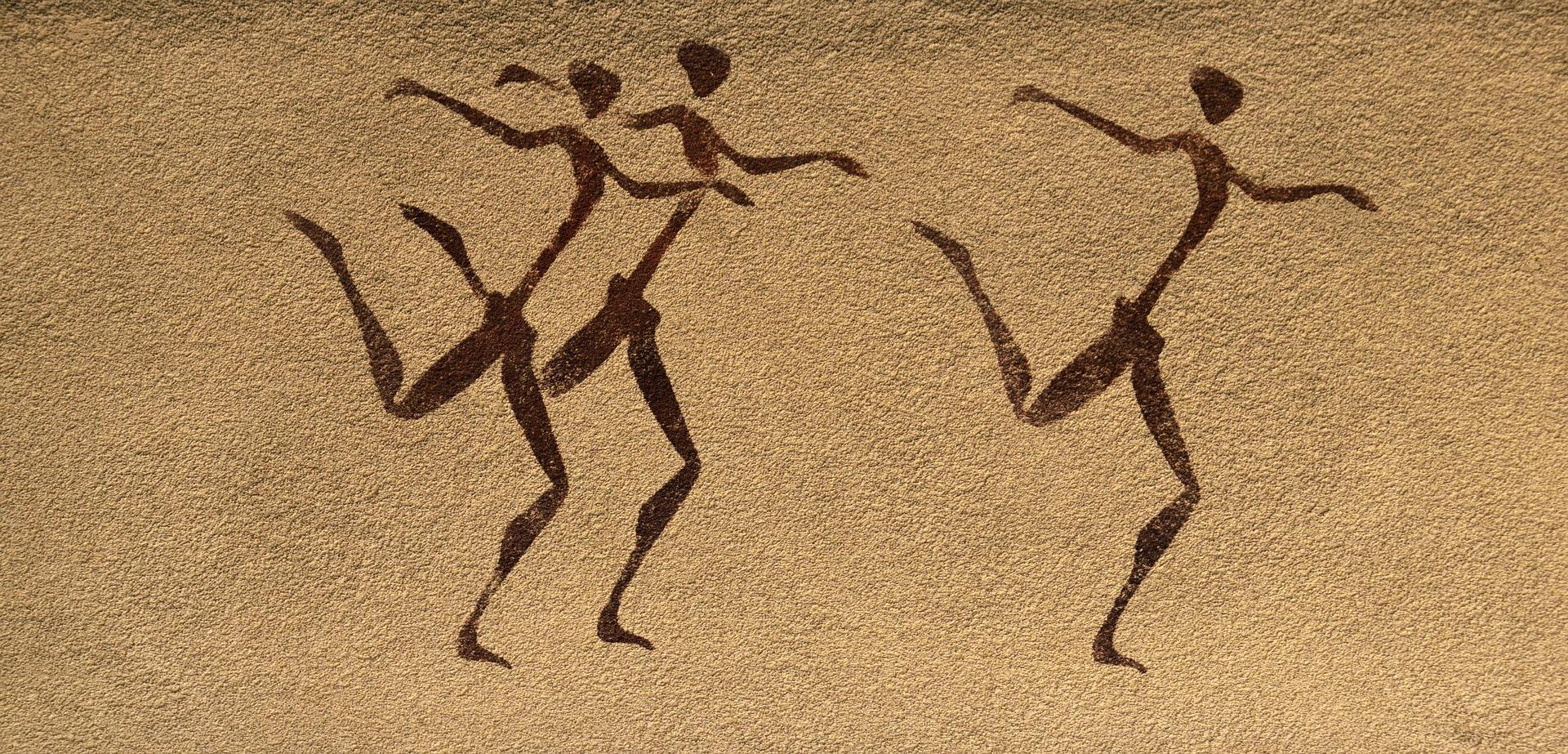 Mural tańczące postacie